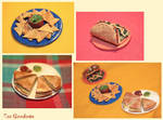 Mexican food miniatures