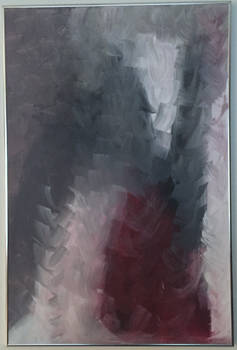 grey and red brushstrokes