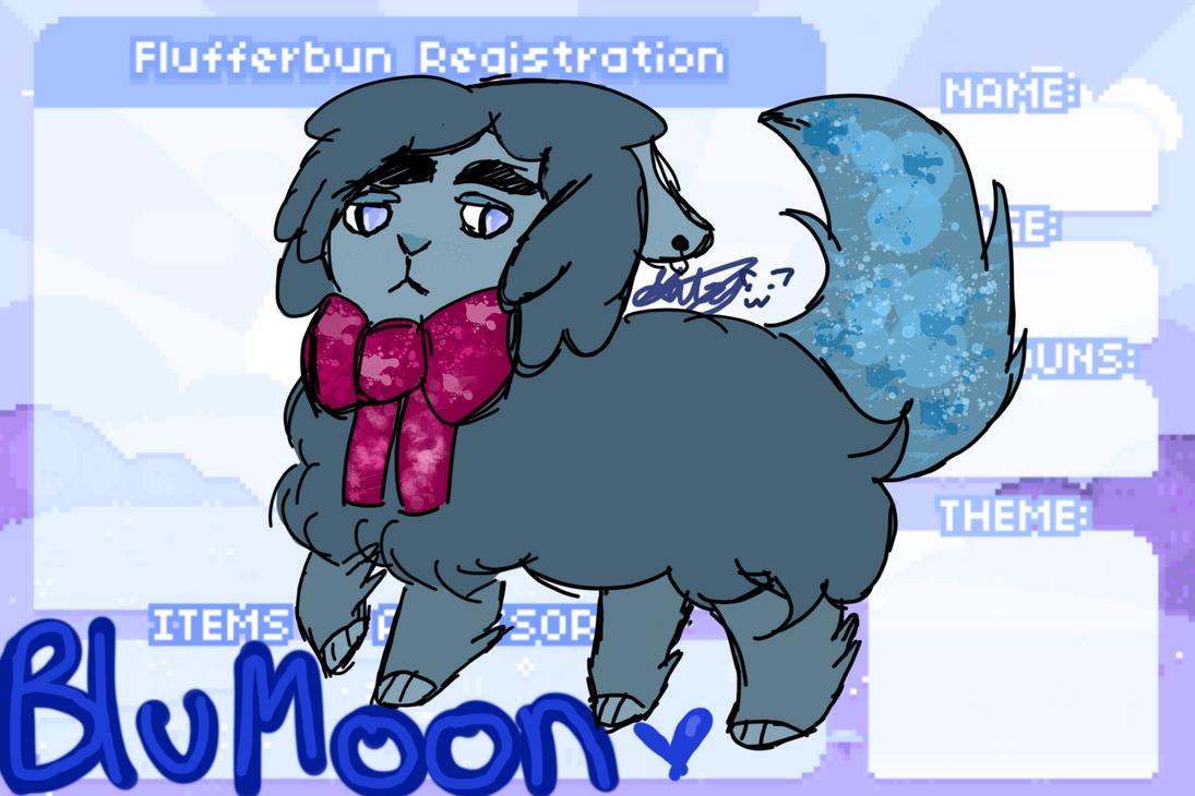 Flufferbun Oc: BluMoon by mangle142