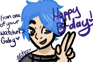 Happy Birthday DestinyBlue! by mangle142