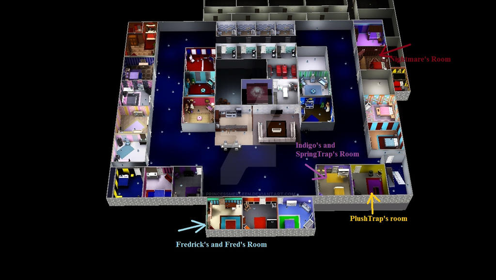 All Rooms In Fnaf