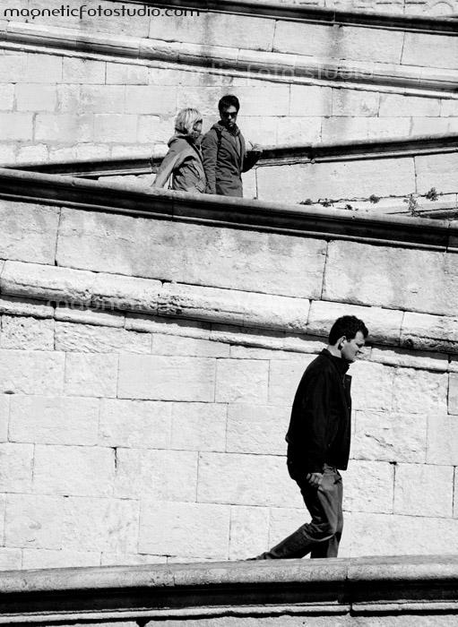 Walking alone by Luca-De-Bellis