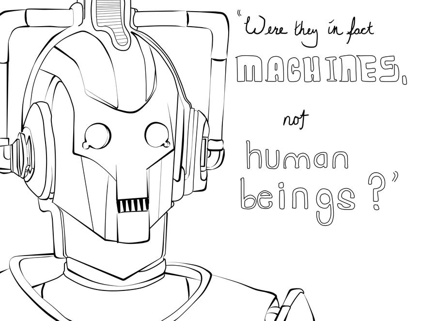were they in fact cybermen by alixandria on deviantart tardis doctor who coloring pages