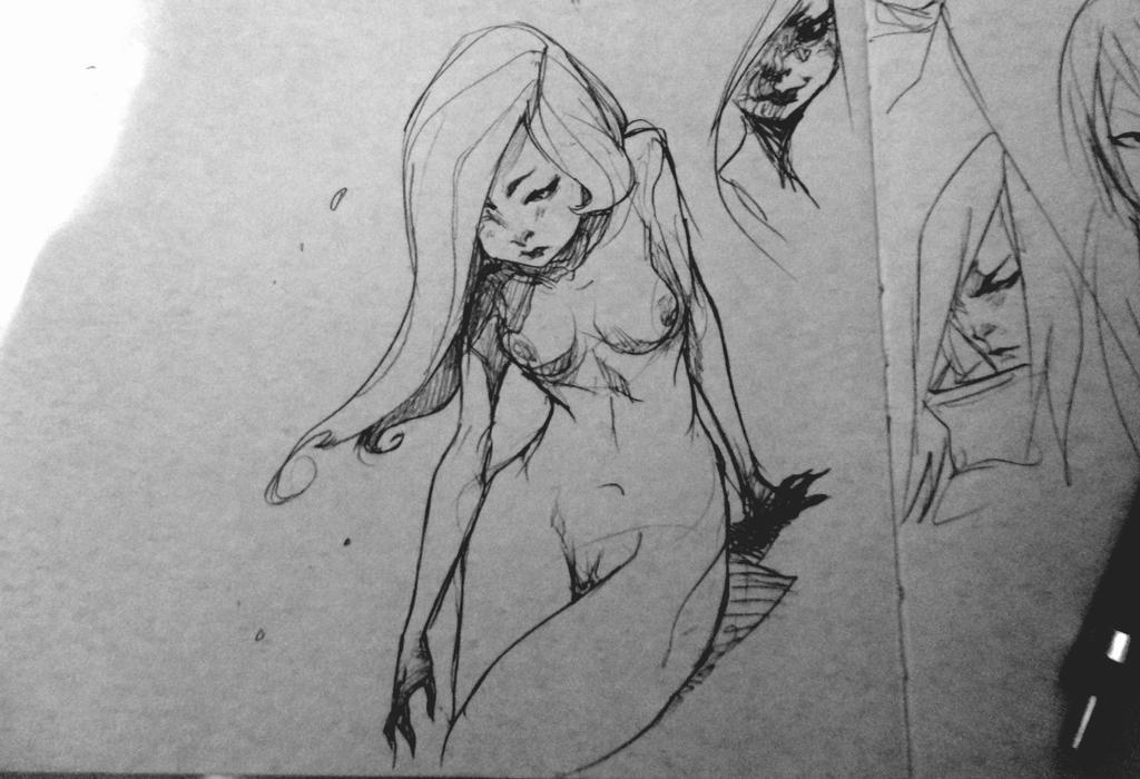 Nude on paper by Chaosmember
