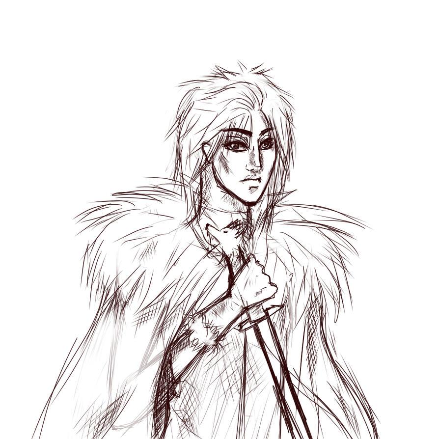 Jon Snow sketch by Zincum