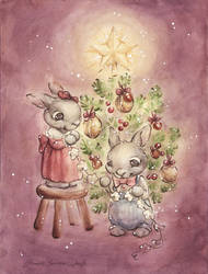 The Rabbit's Christmas Tree by DreamsOfALostSpirit