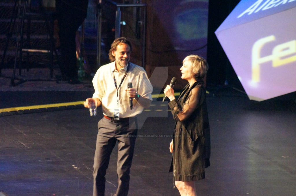 Nana Visitor and Alexander Siddig at Fedcon XXIII by ...