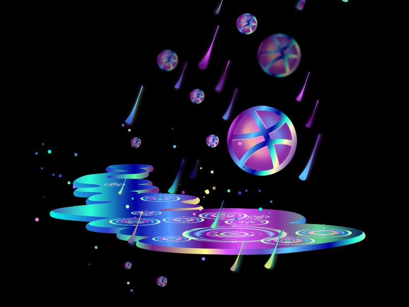 Dribbble Rain by FreakorGeek