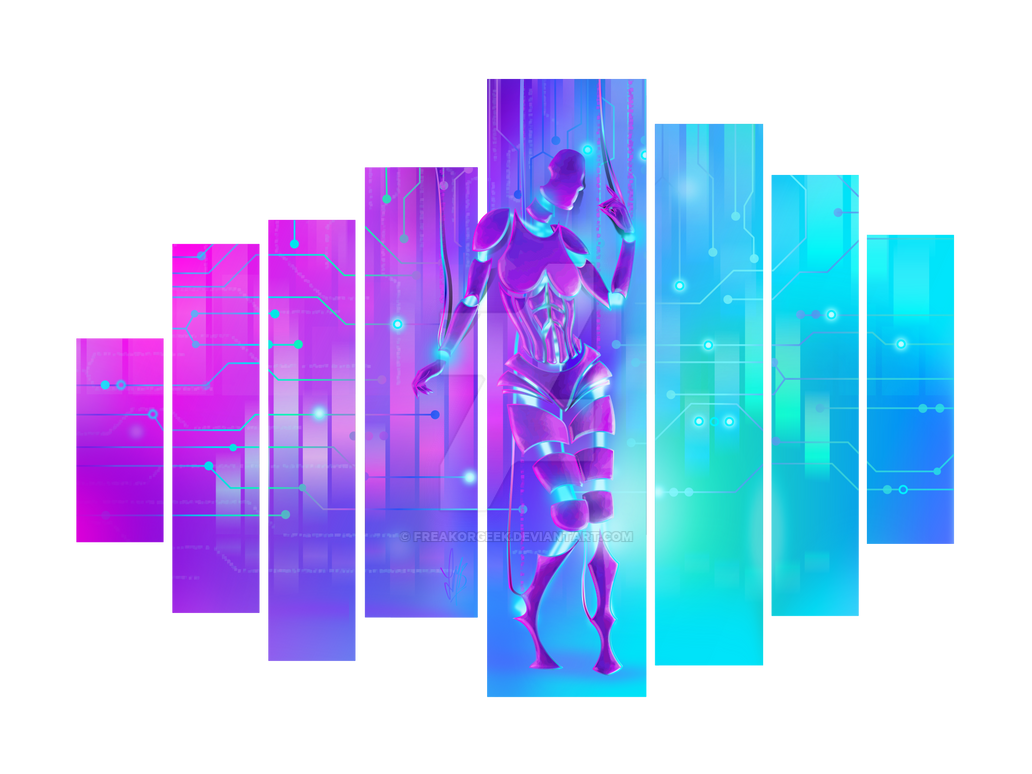 Neon Robotica by FreakorGeek