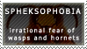 Spheksophobia stamp by KathyKnodoff