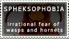 Spheksophobia stamp by KathyKnodoff