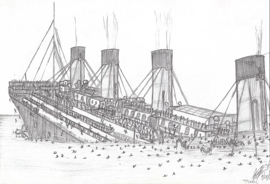 britannic coloring pages - titanic sinking by jbernardino on deviantart