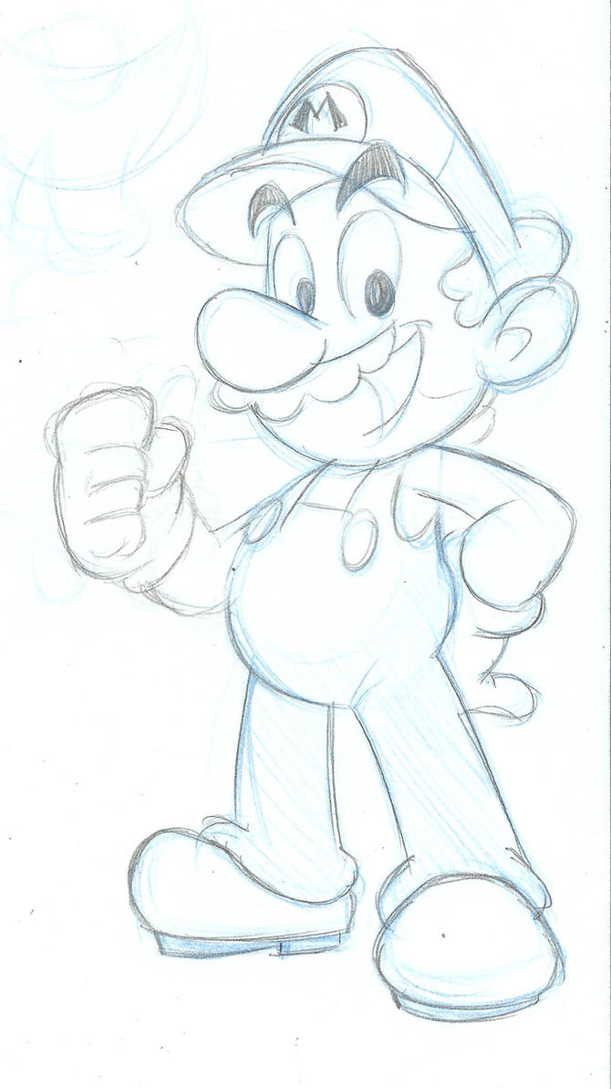 Just the beginning - Mario by MKDrawings