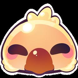 Fat chocobo emoji by chocolate-rebel