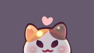4k Wallpaper: Peeking Fat Cat