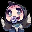 Twitch Emote: DecemberMagpie's Cheering Baby