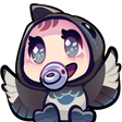 Twitch Emote: DecemberMagpie's Cheering Baby by chocolate-rebel