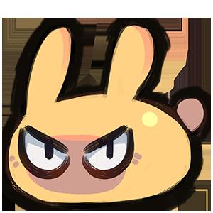 emote - angy bun