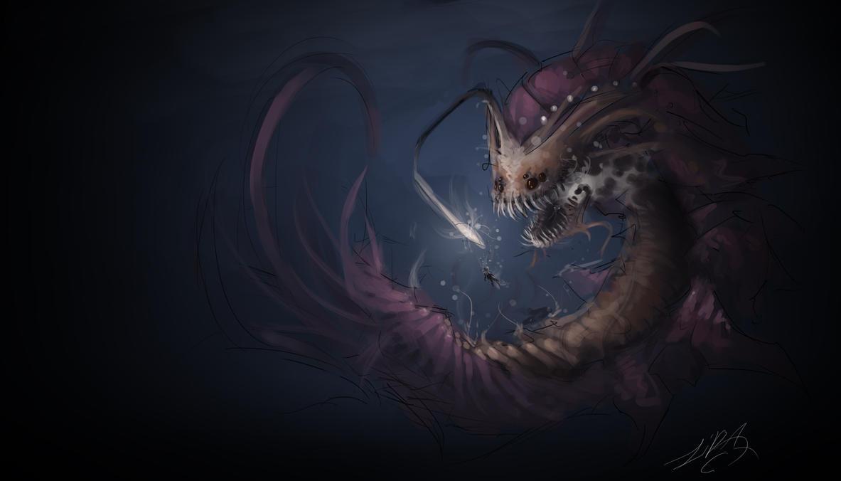 Sea Monster by ZikwagaGiant Sea Monster Wallpaper