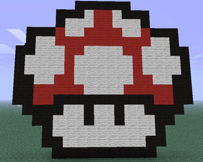 Minecraft Mario Mushroom By Manwolfbearfish On Deviantart