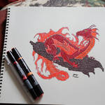 Temple Dragon (Colored)