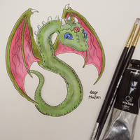 Bright Eyed Winged Serpent (Colored) by Ozzymodan