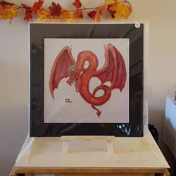 Bright Eyed Winged Serpent, Print