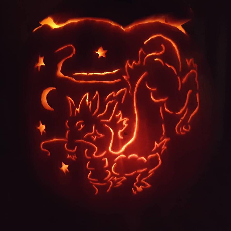 Balance Dragon Jack o lantern