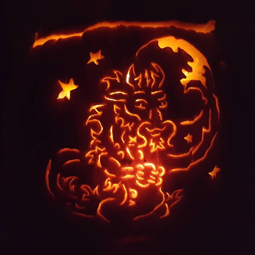 Dragon of the Rising Moon Jack o lantern