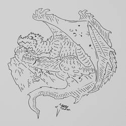 Sleeping Dragon (Black and White)