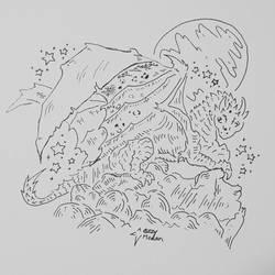 Icelandic Dragon, Sleeping Pose