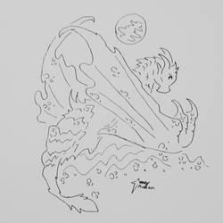 Icelandic Dragon Doodle