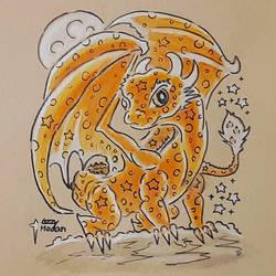 Sunburst Peach Dragon