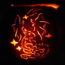 Aquarius Dragon Jack o lantern