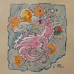 Pink Planetary Nebula Dragon