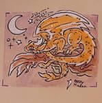 Orange Chrome Dragon  by Ozzymodan