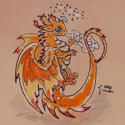 Magic Breath, Sunburst Dragon  by Ozzymodan