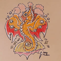 Seven of Coins Dragon  by Ozzymodan