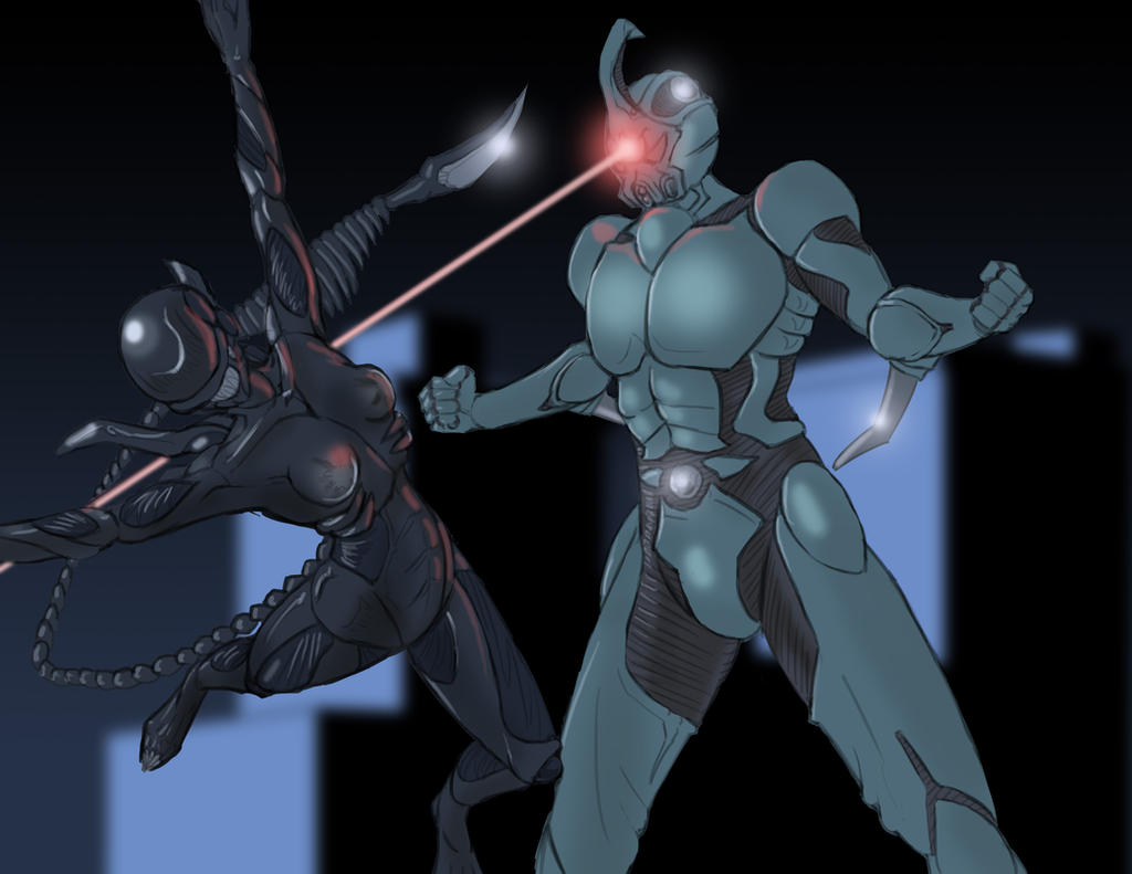 Xenogirl and the Guyver by general-sci
