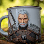 Geralt to Rivia by polymer clay