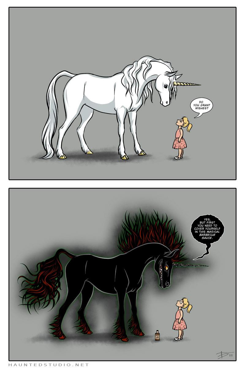 Unicorns Don't Sparkle by HaloGhost