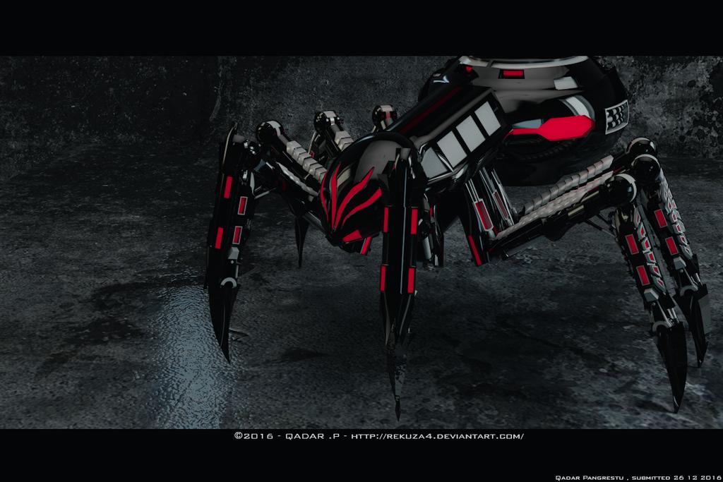 3D Spider Mecha X-R3 by rekuza4