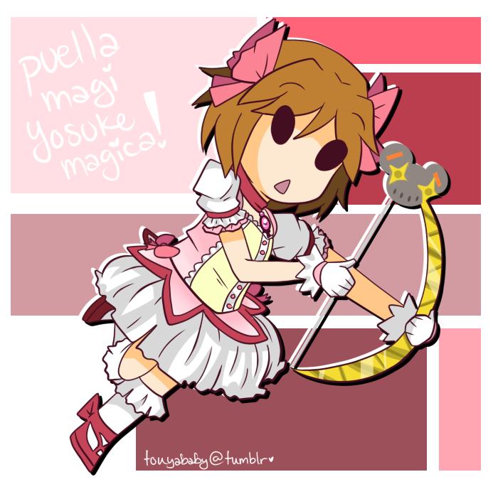 puella magi yosuke magica by MewGlaceon