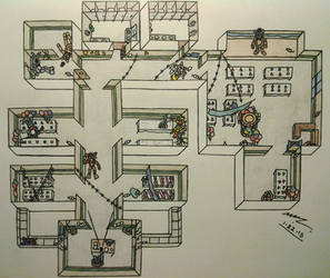 FNAF2 Map Layout - During Gameplay