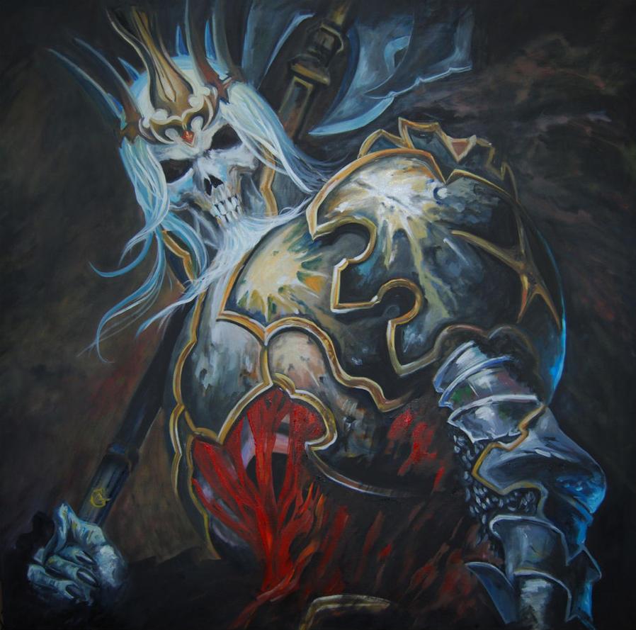 Diablo 3 - King Leoric, Oil on Canvas by AnaCrafty
