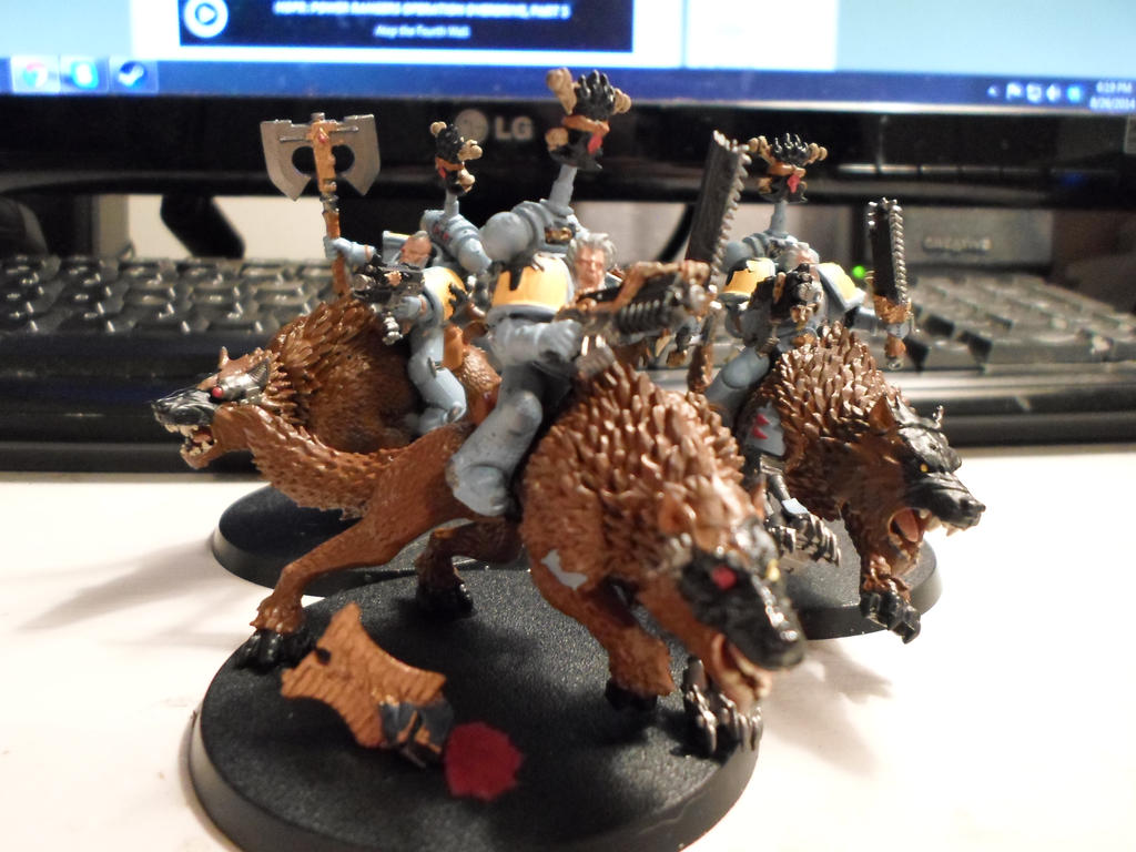 Space Wolves Thunderwolf Cavalry by Wulfspider