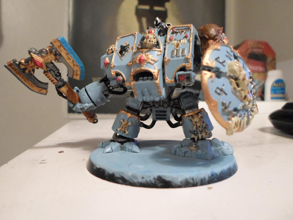 Space Wolf Venerable Dreadnought by Wulfspider