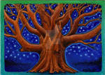 ACEO Lonely Oak Tree by MandarinMoon