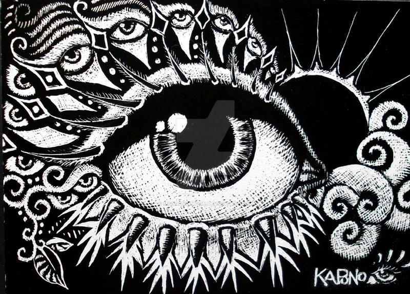 Eye Art Design : Aceo scratchboard sunset eye by mandarinmoon on deviantart