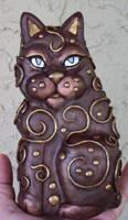 Bronzed Cat polymer clay
